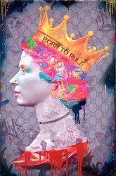 Born to Rule by Dan Pearce - Glazed Paper on Board sized 24x36 inches. Available from Whitewall Galleries